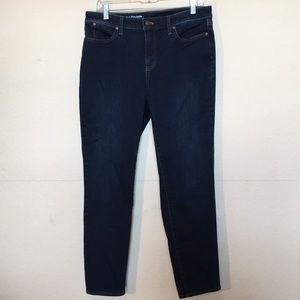 Talbots Flawless Slim Ankle Curvy dark jeans 10